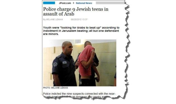 Skjermdump fra artikkel om saken på jpost.com.
