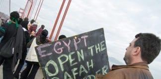 Fra en amerikansk demonstrasjon mot den israelsk-egyptiske blokaden av Gaza-stripen. (Illustrasjon: Steve Rhodes)