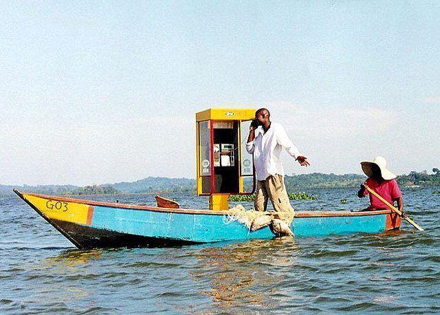 Maritim telefonkiosk på Victoriasjøen. (Illustrasjonsfoto: abaporu, flickr.com)