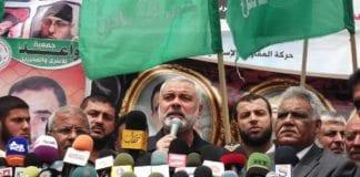 """Hamas-leder på Gaza-stripen, Ismail Haniyeh, sier ikke akkurat """"takk skal du ha"""" etter at israelske leger reddet livet til svogeren hans. (Foto: Joe Catron)"""