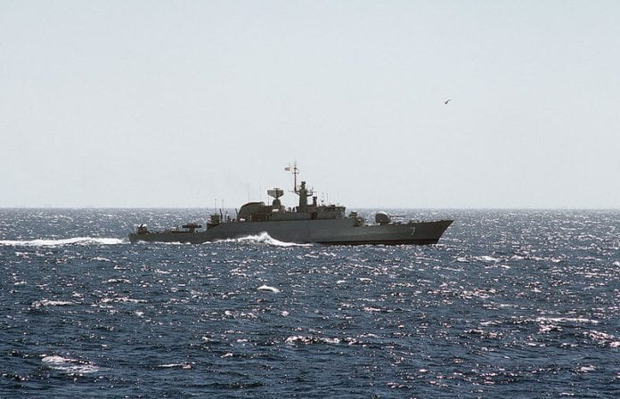 Iransk fregatt. (Illustrasjonsfoto: Wikimedia Commons)