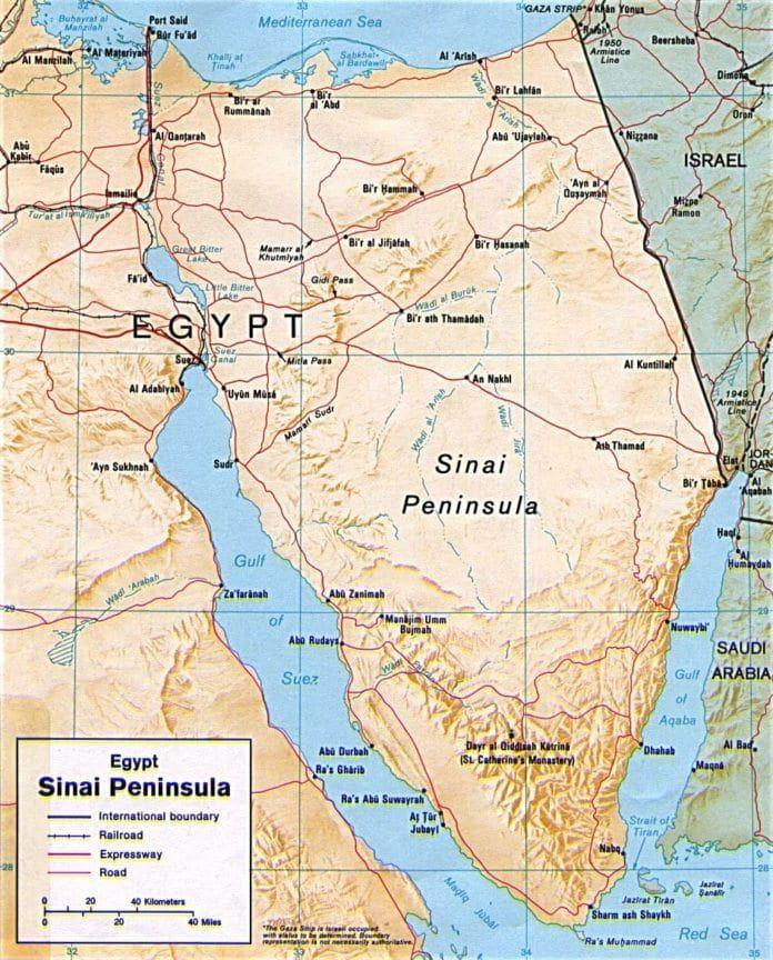 Sinai-halvøya. (Foto: Wikimedia Commons)