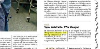 Denne NTB-notisen stod på side 22 i Aftenposten torsdag 23. august 2012. (Faksmile Aftenposten)