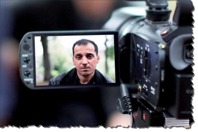 Faksmile av bildet Andrea Lange har tatt av Maher Bani Jabir, før han ble returnert av norske myndigheter til Vestbredden.