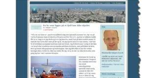 Skjermdump av Vebjørn Dysviks første blogginnlegg.
