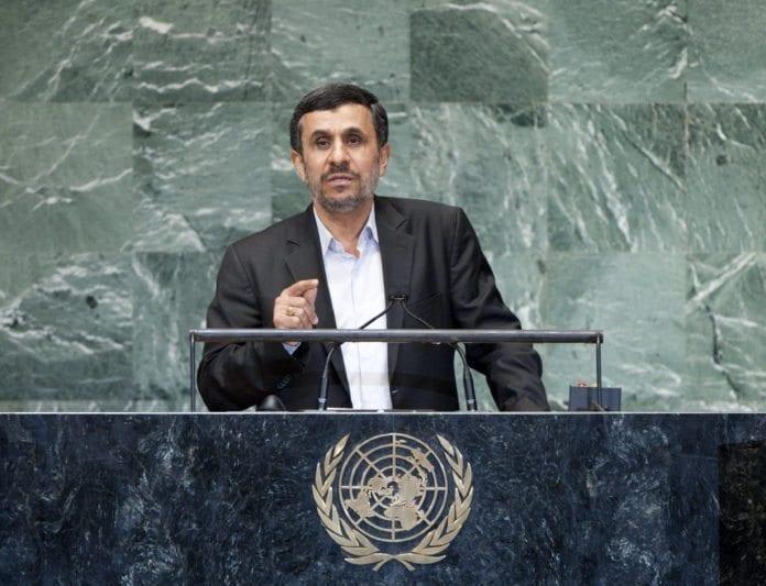 Irans president Mahmoud Ahmadinejads tale til FNs generalforsamling, 26. september 2012. (Foto: Jennifer S Altman, UN Photo)