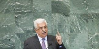 Foran FNs generalforsamling hevdet PA-president Mahmoud Abbas at Israel utdanner sine barn til å hate palestinerne. (Foto: J. Carrier, UN Photo)