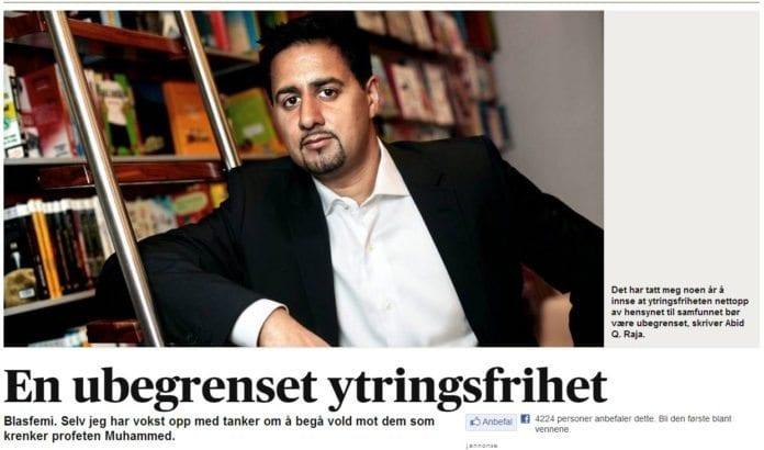 Illustrasjon: Faksimile fra Aftenposten.no