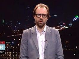 Sigurd Falkenberg Mikkelsen på NRK Dagsrevyen 20. oktober 2012. (Skjermdump fra tv.nrk.no)