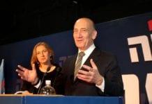Både Ehud Olmert (f.h.) og Tzipi Livni presses til å gjøre comeback i politikken. (Foto: Tzipi Livnis Twitter-konto)