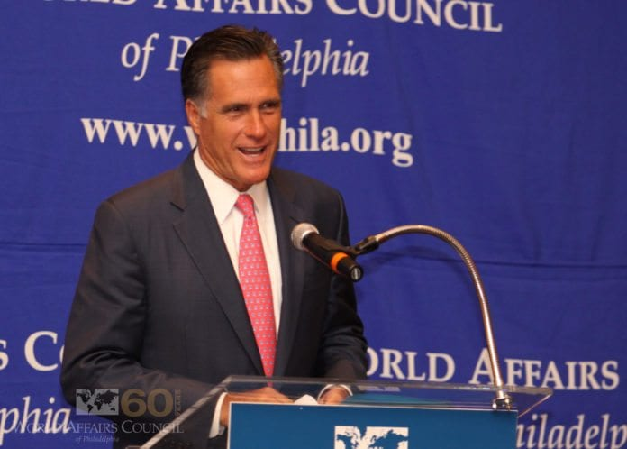 Republikanernes presidentkandidat Mitt Romney. (Foto: World Affairs Council in Philadelphia)