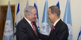 Februar 2012 møtte Israels statsminister Benjamin Netanyahu (f.v.) FNs generalsekretær Ban Ki-moon. (Foto: Eskinder Debebe, UN Photo)