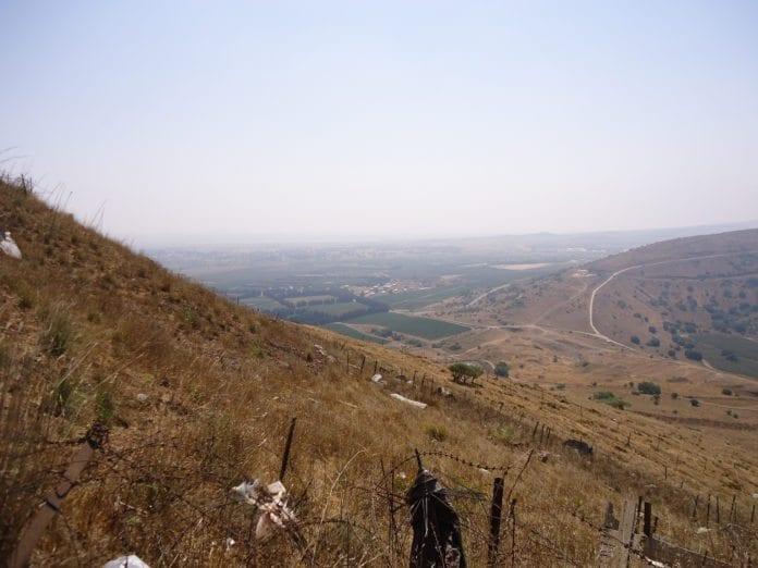 Bildet viser området der grensen mellom Israel, Syria og Libanon møtes. (Foto: flickr.com)