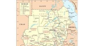 Politisk kart over Sudan etter at Sør-Sudan ble skilt ut som selvstendig stat. (Foto: Wikipedia)