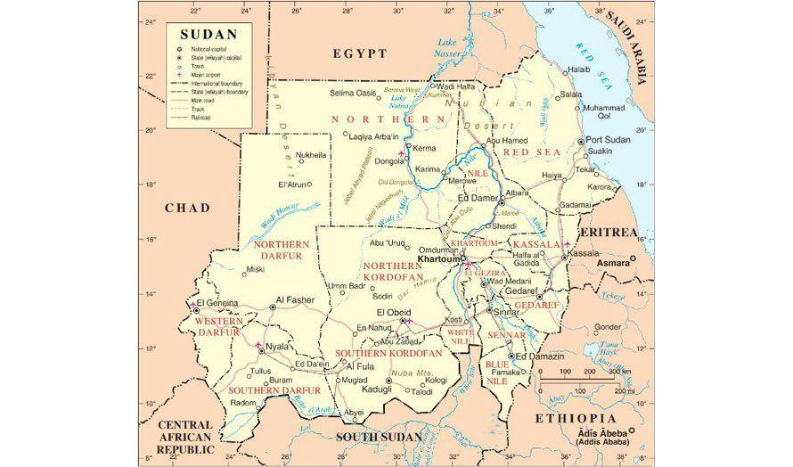sudan kart Politisk kart over Sudan etter at Sør Sudan ble skilt ut som  sudan kart