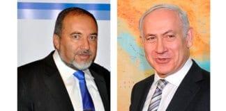 Utenriksminister Avigdor Lieberman og statsminister Benjamin Betanyahu stiller felles valgliste til Knesset-valget i januar 2013.
