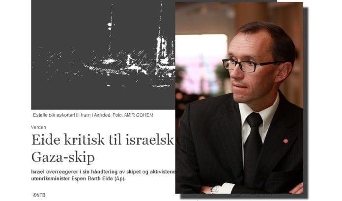 Utenriksminister Espen Barth Eide kritiserte Israel etter at israelsk marine stanset skip som var i ferd med å bryte sjøblokaden av Gaza. - En klar feilvurdering, mener MIFF. (Foto: Arbeiderpartiet, Wikimedia Commons)