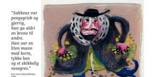 Tegningen av Sakkeus er hentet fra Den store barnebibelen, utgitt av Det Norske Bibelselskap i 2008.