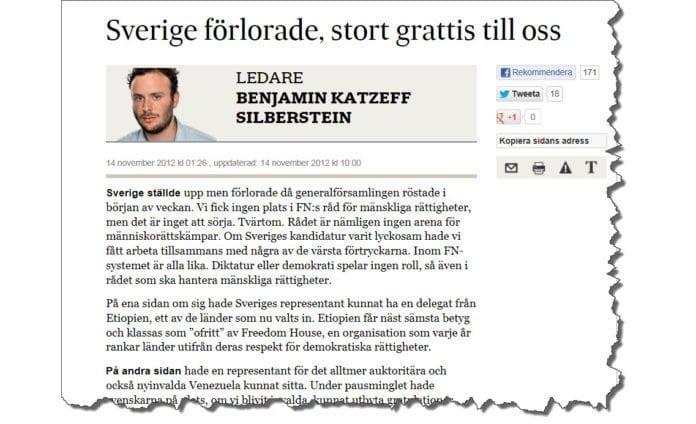 Foto: Skjermdump fra SvD.se