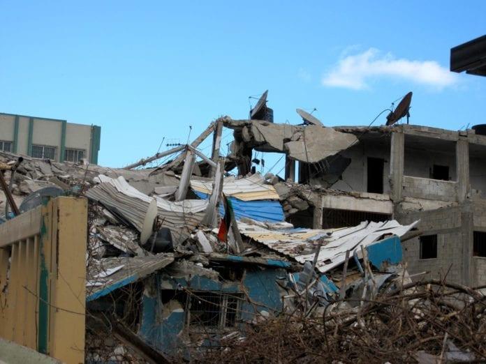 En Hamas-politistasjon i Gaza by, som ble rammet av IDF under Den første Gaza-krigen i 2008/2009. (Foto: Kim Elliot)