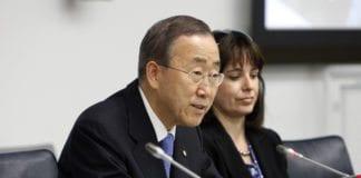 """FNs generalsekretær Ban Ki-moon oppfordrer Israel til å vise """"tilbakeholdenhet"""", etter at 160 raketter og granater fra Gaza-stripen har haglet ned over landet de siste tre dagene. (Foto: UN Photo)"""