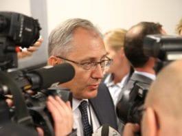 Odd Reidar Humlegård under pressekonferansen da han ble beordret til stillingen som ny politidirektør 17. juli 2012. (Foto: Justisdepartementet)