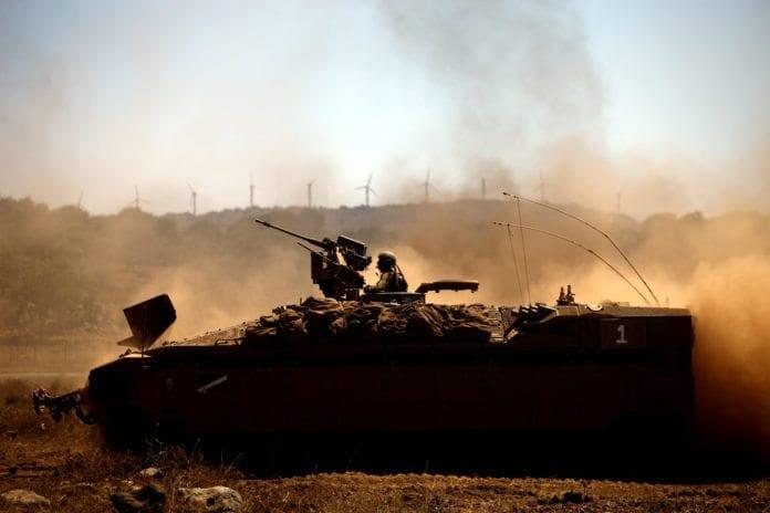 Militærøvelse på Golan-høyden (Illustrasjon: IDF)