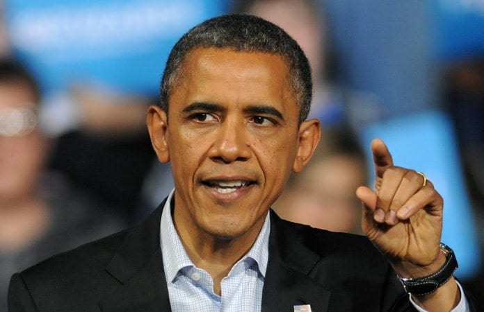 USAs president Barack Obama (bildet) satt natt til lørdag i telefonen med Israels statsminister Benjamin Netanyahu. (Foto: Adam Glanzman)