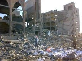En bygning på Gaza-stripen som ble ødelagt under krigen i januar 2009. (Foto: International Solidarity Movement, Wikimedia Commons)