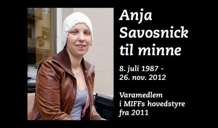 Anja Savosnick til minne.
