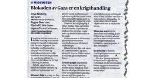 """""""Blokaden av Gaza er en krigshandling,"""" skriver Palestinakomiteen i Drammens Tidende 2. november 2012. Tvert imot! Sjøblokaden beskytter palestinske og israelske liv, svarer MIFF."""