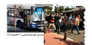 Skjemdump av bilder tatt etter terrorangrepet fra haaretz.com og ynetnews.com.