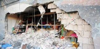Denne butikken i Ashdod ble truffet av en rakett fra Gaza-stripen under Operasjon Forsvarssøyle. (Foto: IDF)