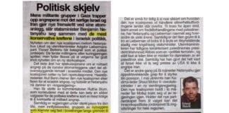 Faksmile av Erlend Skeviks artikkel i VG tirsdag 6. november 2012.
