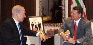 Statsminister Benjamin Netanyahu (f.v.) og Jordans kong Abdullah II under et tidligere møte i Amman. (Foto: GPO)