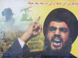 Plakat av Hizbollah-leder Hassan Nasrallah. (Illustrusasjon: flickr.com)