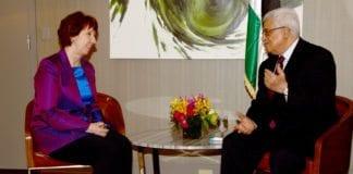 PA-president Mahmoud Abbas (f.h.) og EUs utenriksminister Catherine Ashton. (Foto: EUs utenriksdepartement)