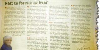 Faksmile fra Helgeland Arbeiderblad 30. november 2012.