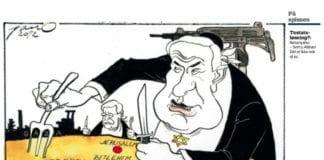 Karikatur i Adresseavisen fredag 7. desember 2012.