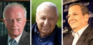Yitzhak Rabin (f.v.), Ariel Sharon og Ehud Barak brukte sine prestasjoner i forsvarsstyrkene som springbrett til å vinne politiske toppstillinger. Når Barak har valgt å trekke seg ut av politikken, ser det ut til at generalenes tid i israelsk politikk er over.