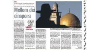 Faksmile av debattredaktør Johannes Morkens artikkel i Vårt Land fredag 14. desember 2012.