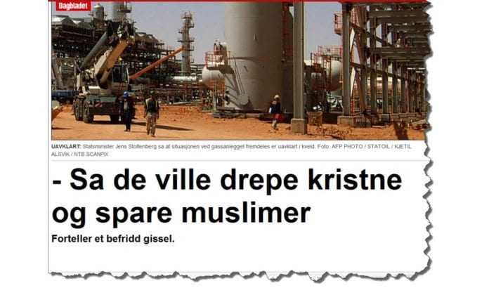 Skjermdump fra Dagbladet.no 17. januar 2013.
