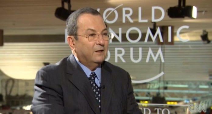 Israels avtroppende forsvarsminister Ehud Barak. (Foto: Skjermdump fra CNN)