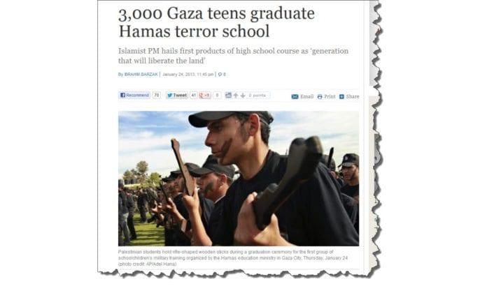Skjermdump fra Times of Israel 25. januar 2013.