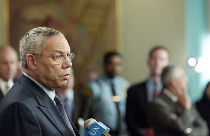 USAs tidligere utenriksminister Colin Powell. (Foto: Mark Garten, UN Photo)