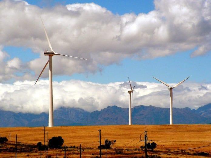 Prosjekter innenfor grønn energi (utnytte sol og vind) gir 8 % avkastning i Tyskland. I Afrika er avkastningen rundt 20 %, påpeker den israelske økonomen Hana-Muriel Setteboun. Bildet viser vindmøller i Sør-Afrika. (Illustrasjonsfoto: Lollie-Pop, flickr.com)