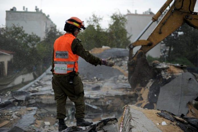 Fra en redningsøvelse i sivilforsvaret i desember 2012. (Illustrasjonsfoto: IDF)