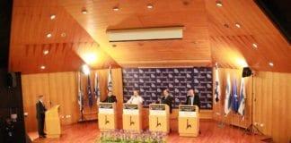 En israelsk valgdebatt om utenrikspolitikk som nylig ble arrangert av The Israel Project. (Illustrasjon: The Israel Project)