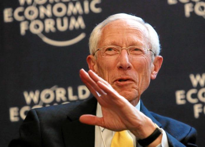 Israels sentralbanksjef Stanley Fischer takker for seg. (Foto: WEF)