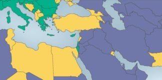Land klassifisert som frie er markert med grønn, delvis-frie land med gult og ikke-frie land med lilla. (Skjermdump fra rapporten Freedom in the World 2013)